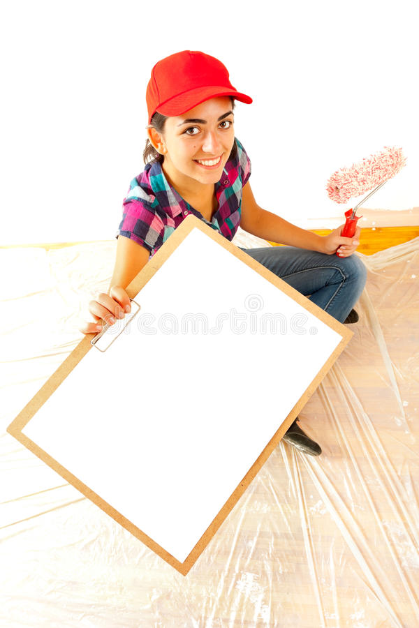 Download Painter With Clipboard Stock Photography - Image: 25865022