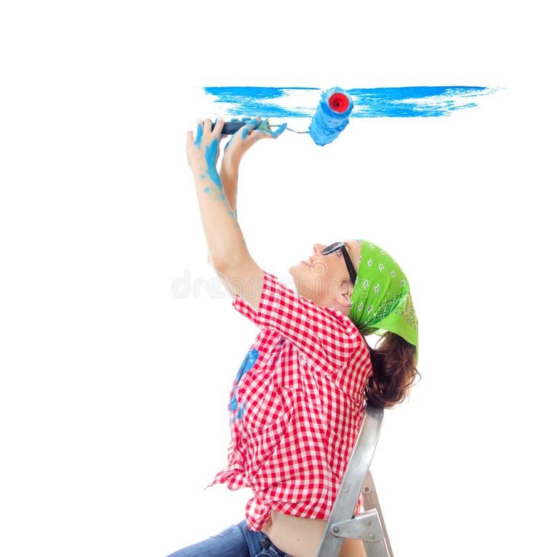 Painter female stock image