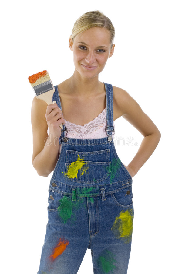 Painter girl stock photos