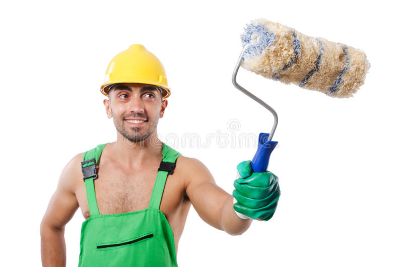 Download Painter In Green Coveralls Stock Images - Image: 33494264
