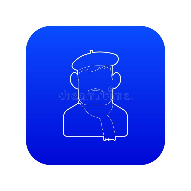Painter icon blue vector royalty free illustration