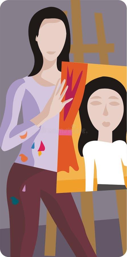 Painter Illustration Stock Photo