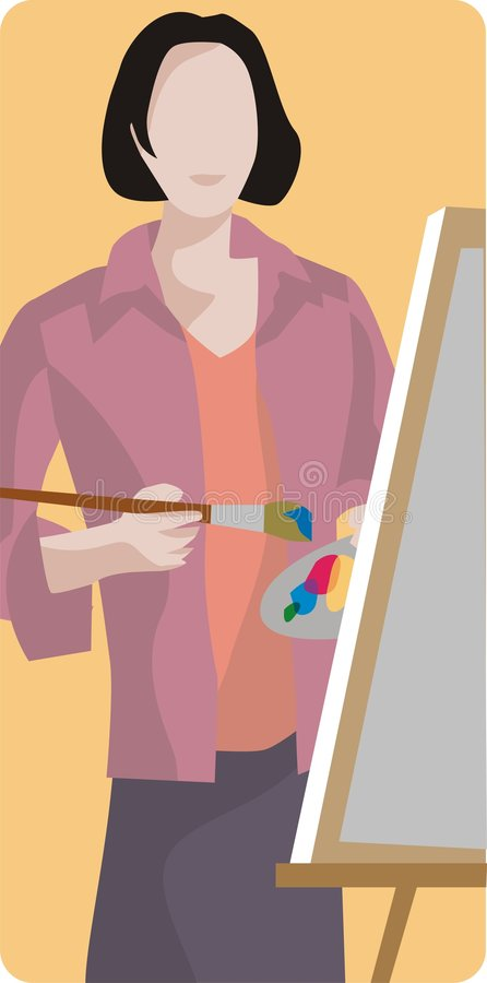 Download Painter Illustration stock vector. Illustration of clip - 1996071