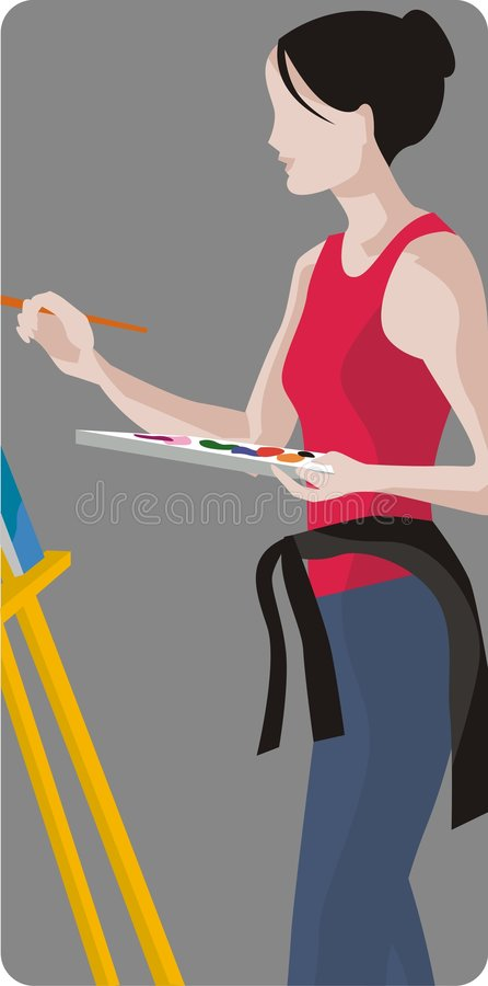 Download Painter Illustration Royalty Free Stock Image - Image: 1996076