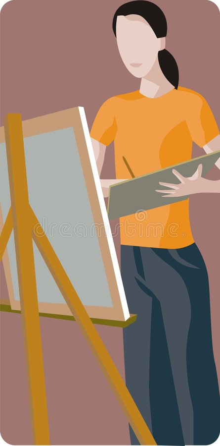 Download Painter Illustration stock vector. Image of graphic, people - 1996077