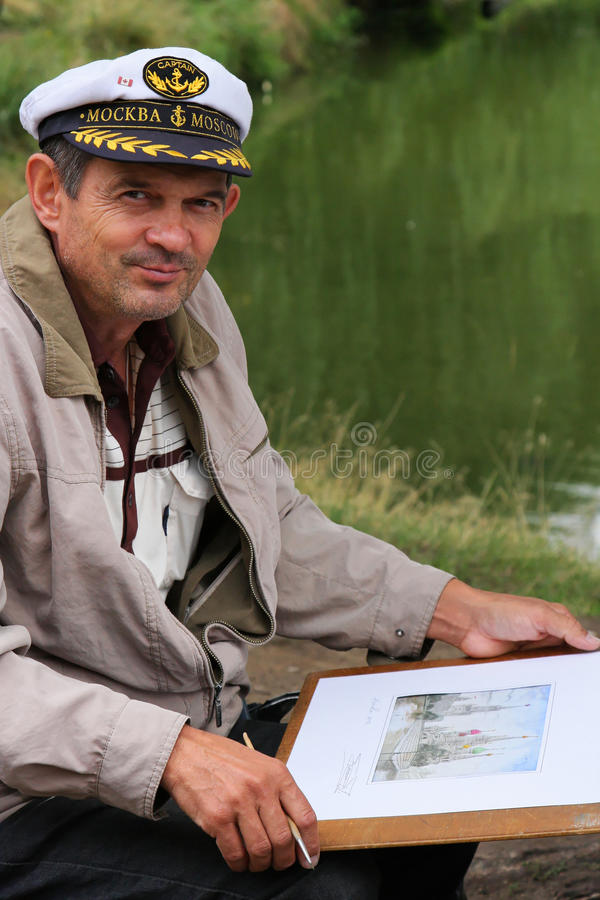 Painter in Moscow