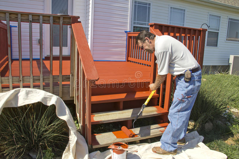 Painter Painting Deck stock photography
