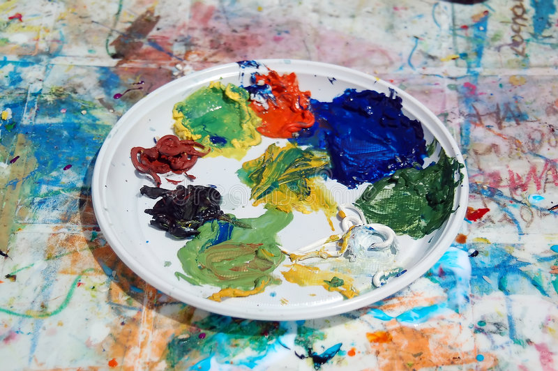 Download Painter's palette stock photo. Image of acrylic, canvas - 882658