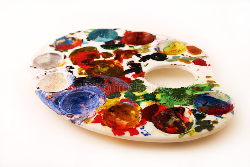 Painter's pallette (creative) stock photography