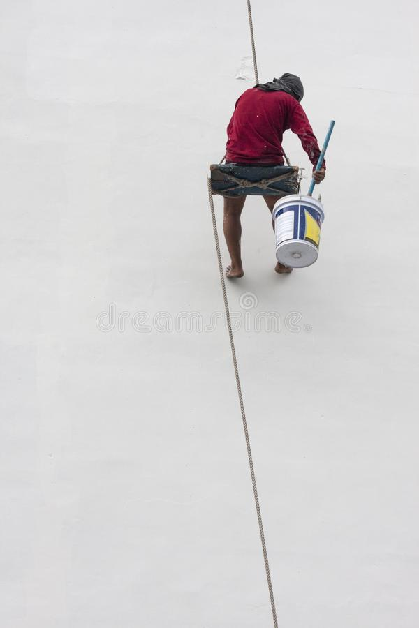 Painter in Thailand stock photography