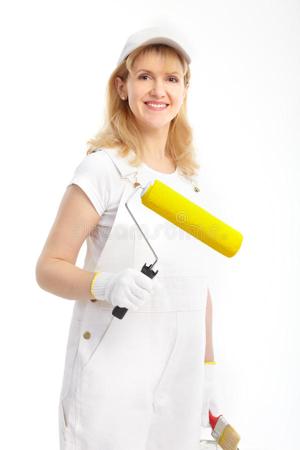 Painter Woman Royalty Free Stock Photos