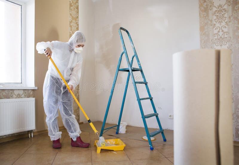 Painter woman stock photos