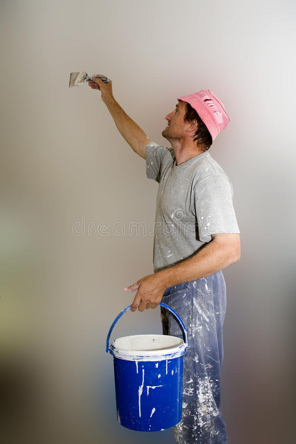 Painter by the work stock images