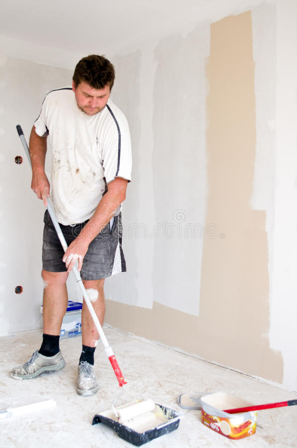 Painter at work royalty free stock image