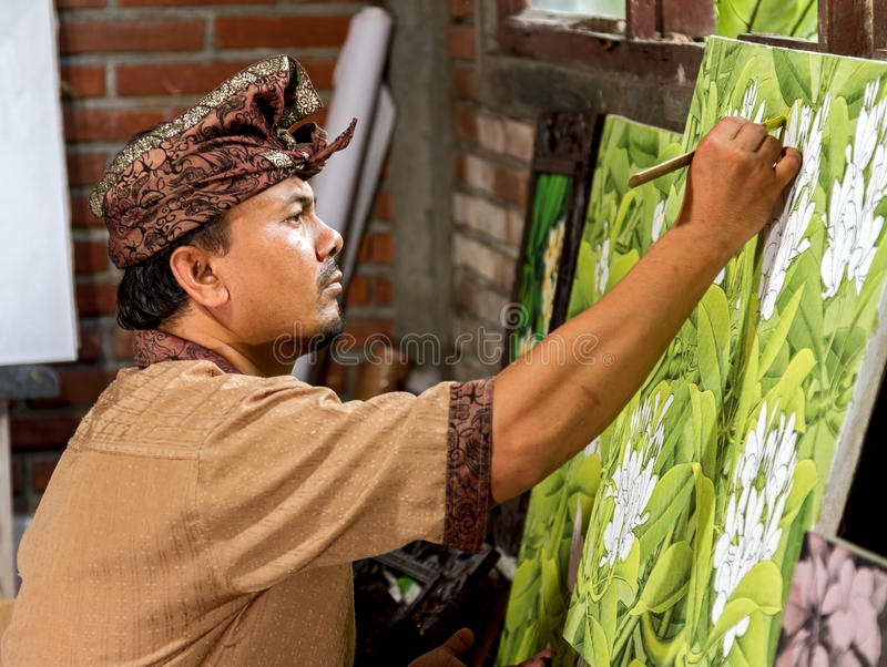 Painter At Work Stock Photo