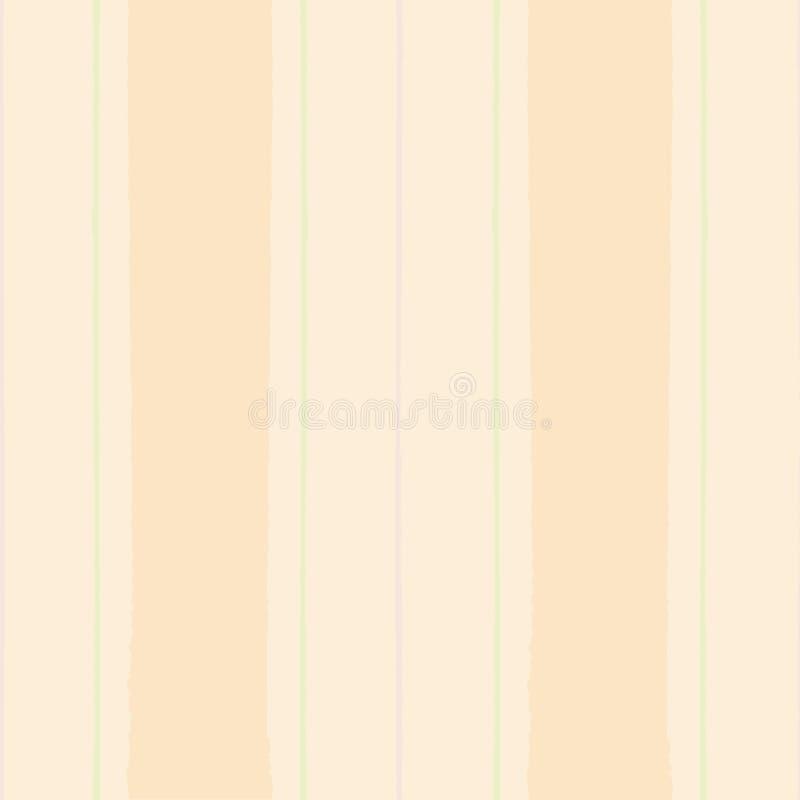 Painterly современная винтажная shirting нашивка в пастельном персике, зеленый и пурпурный Безшовная картина вектора на светлой п иллюстрация штока