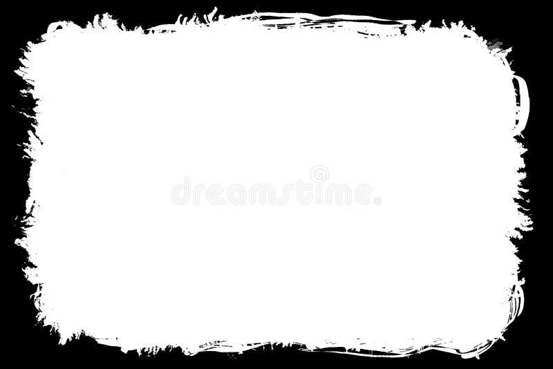 Painterly Black Photo Edges For Landscape Photos stock illustration