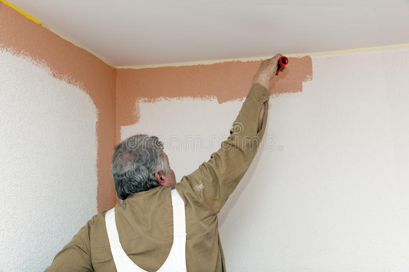 Painters at work stock photo