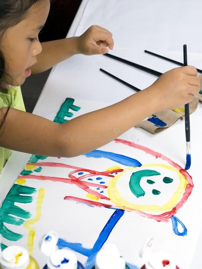 Download Painting 1 stock image. Image of hand, preschool, masterpiece - 1193919