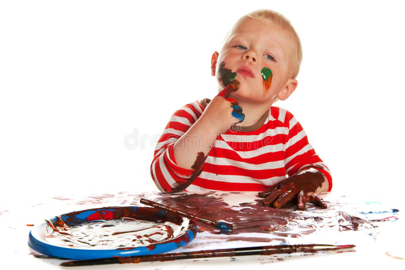 Download Painting stock photo. Image of little, colorful, disorder - 14528076