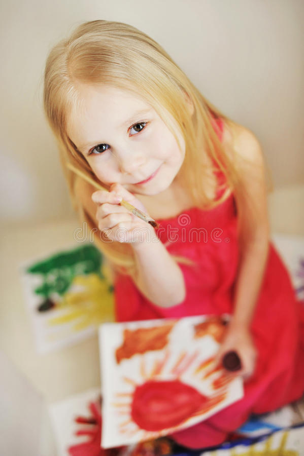Download Painting stock photo. Image of smiles, white, posed, paint - 20497676