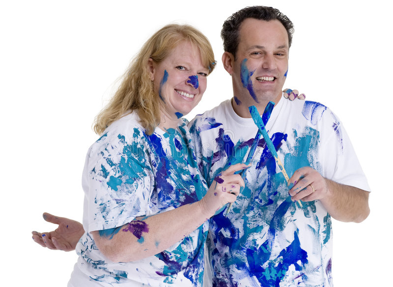 Download Painting stock photo. Image of parents, playing, happy - 3427130