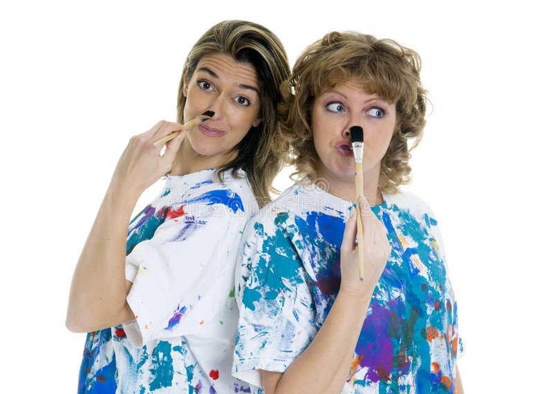 Download Painting stock photo. Image of friends, painting, paintbrush - 3915972