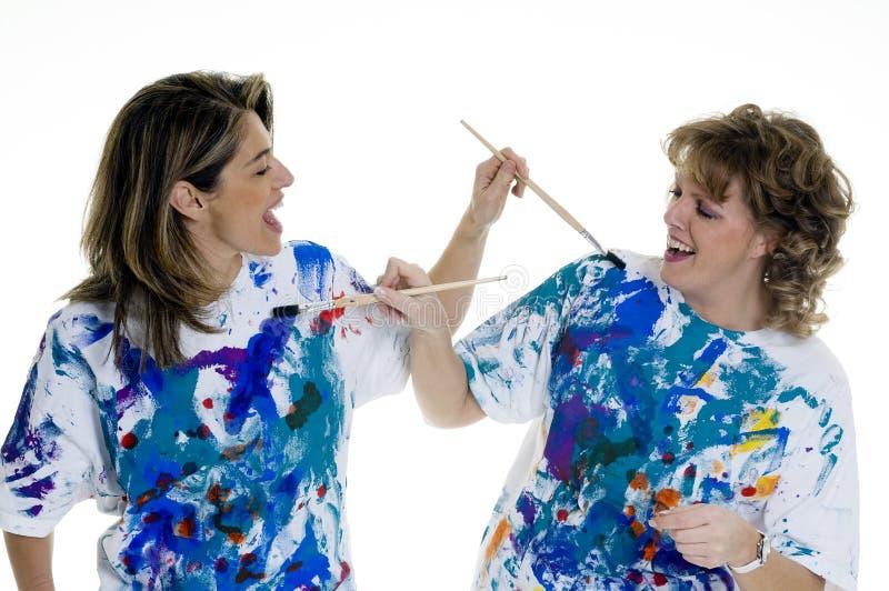 Download Painting stock photo. Image of joyful, brush, teamwork - 3916054