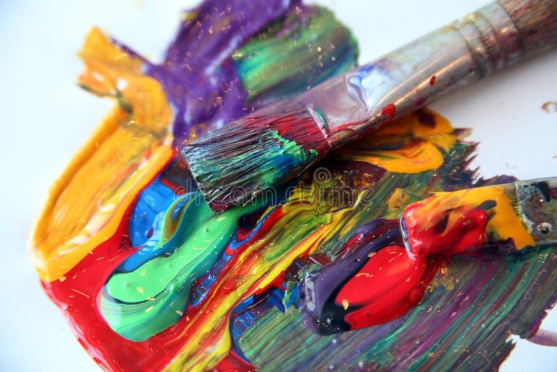 Painting. Pencil & painting job stock image