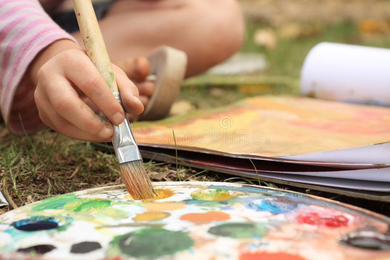 Painting royalty free stock images