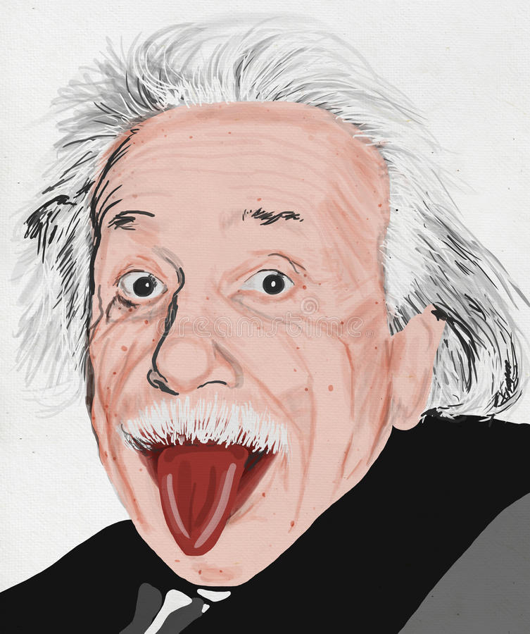 Painting of albert einstein royalty free illustration