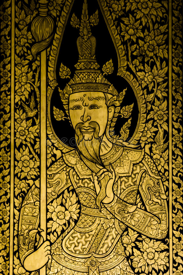 Download Painting Ancient Art Thai Style Stock Illustration - Image: 34308164