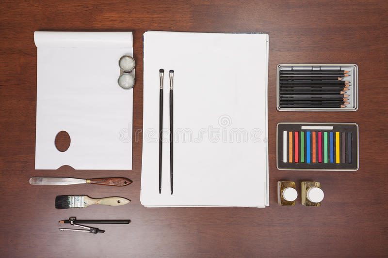 Painting art supplies royalty free stock photography