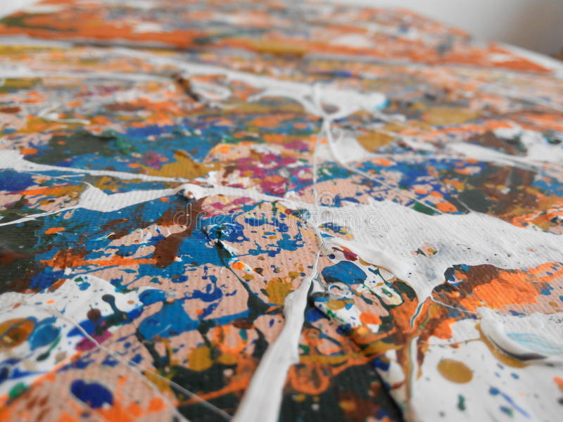 Painting art texture. Acrylic painting texture - part of a painting royalty free stock photography