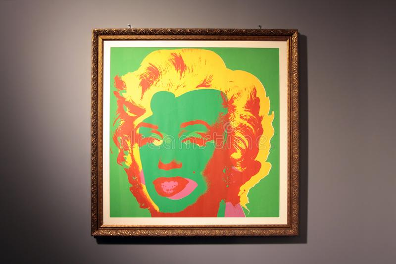 Painting by artist Andy Warhol Marilyn Monroe Marilyn, 1967. Picture Of Andy Warhol Marilyn Monroe Marilyn. 1967, presented at the exhibition in The art gallery stock images