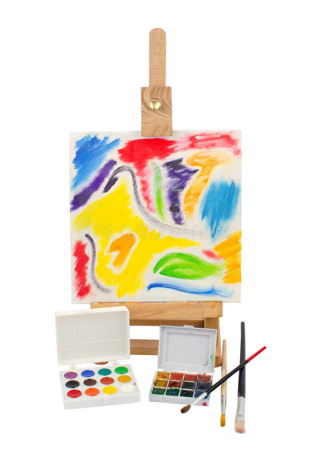 Download Painting for beginners stock image. Image of background - 33188973