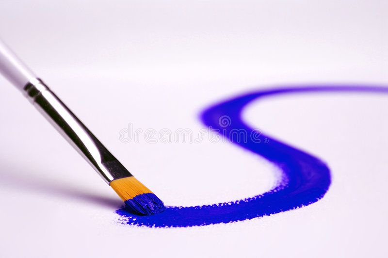 Painting blue royalty free stock image