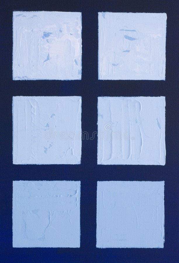 Download Painting Of Blue Squares Stock Image - Image: 6181551