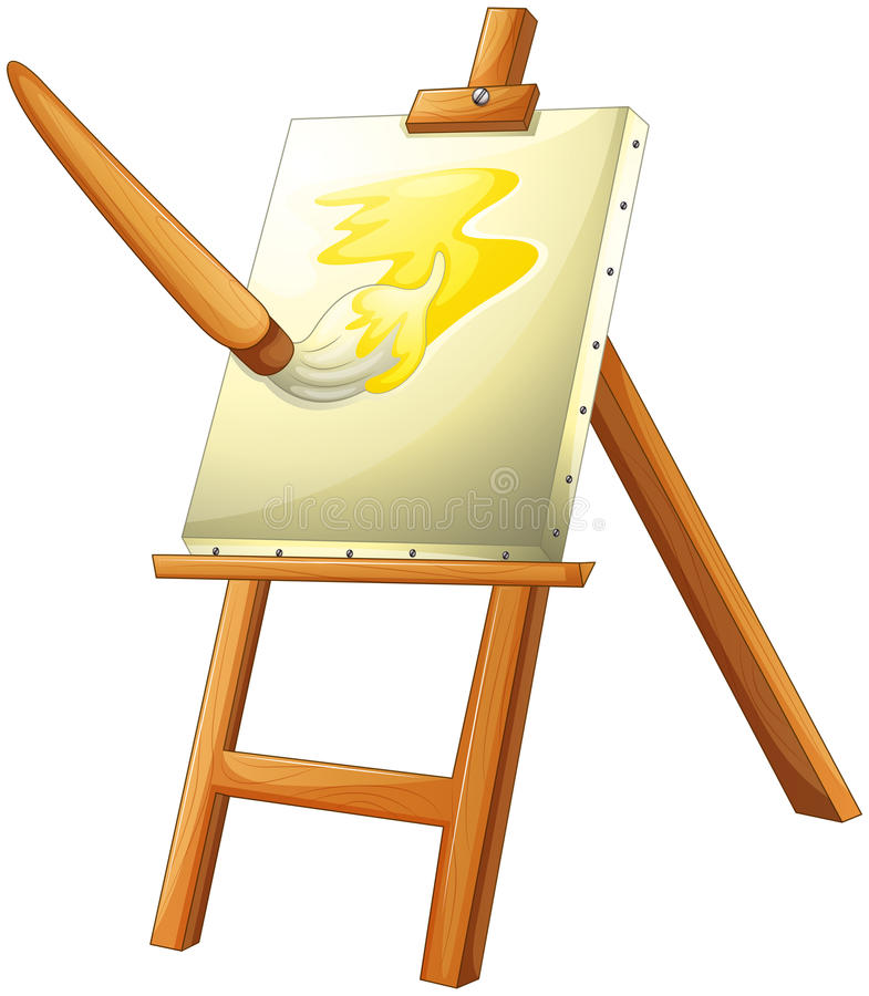 A painting board vector illustration