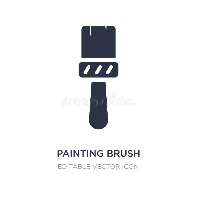 Painting brush icon on white background. Simple element illustration from Art concept. Painting brush icon symbol design royalty free illustration