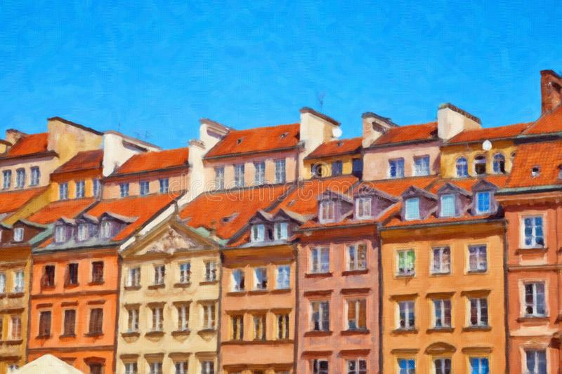 Historic buildings in Warsaw, Poland stock photography