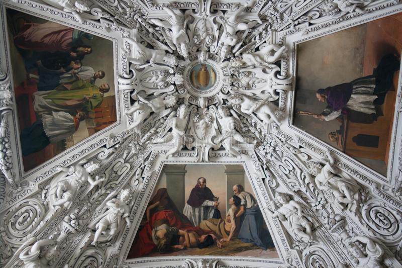 Download Painting Of Cathedral Cupola Stock Image - Image: 13477209
