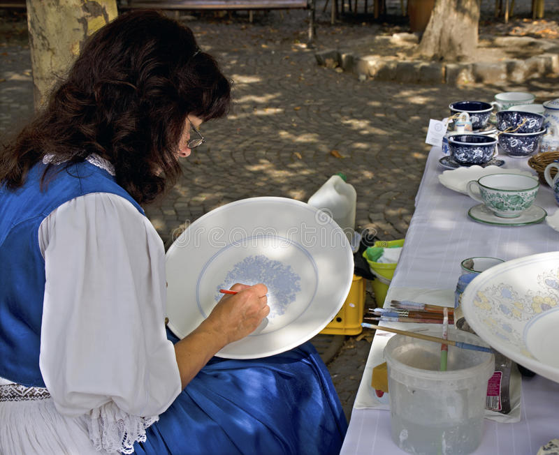 Download Painting ceramics editorial image. Image of outfit, traditional - 33440560