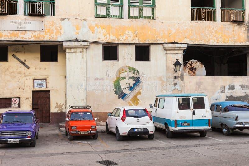 Painting of Che Guevara in Havana, Cuba stock photos
