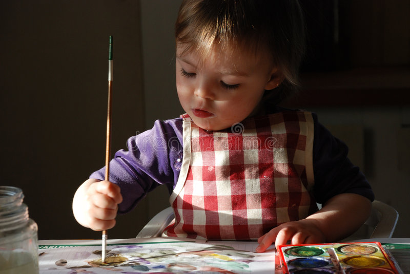 Painting child royalty free stock photo