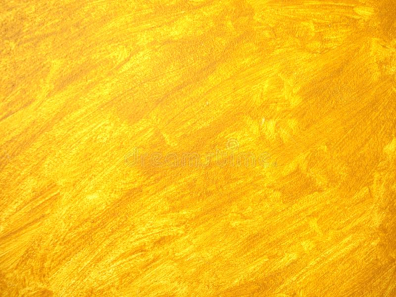 Painting of children bedroom, orange brush strokes. Stunning of yellow orange brush strokes on plaster wall. Painting of children bedroom with brush strokes stock photos