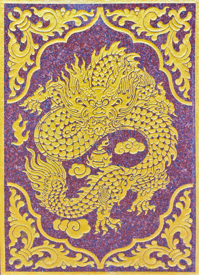 Painting of chinese dragon stock images