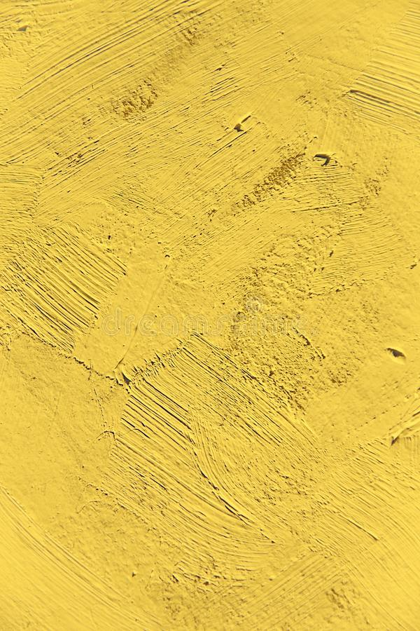Painting close up of vivid primrose yellow pantone color stock images