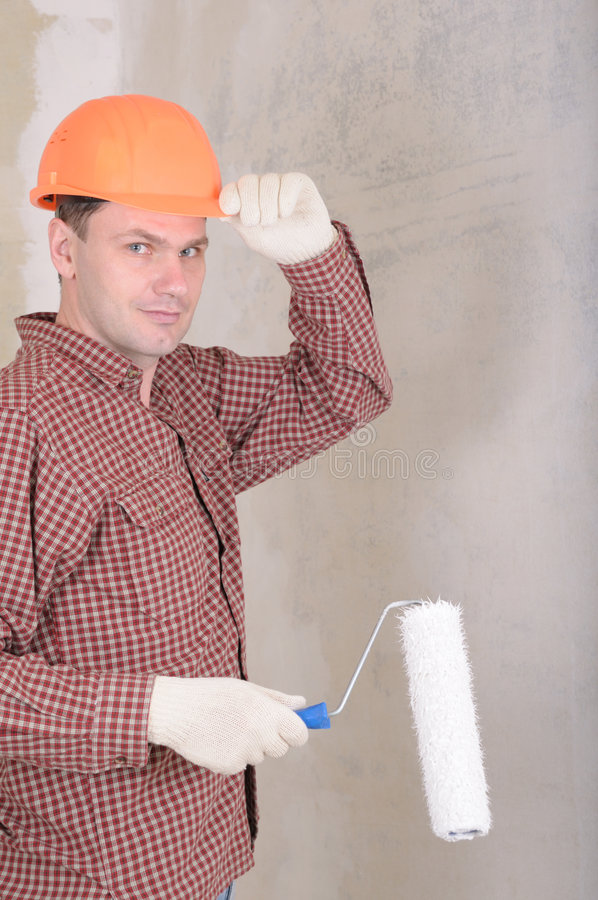 Painting contractor royalty free stock photography