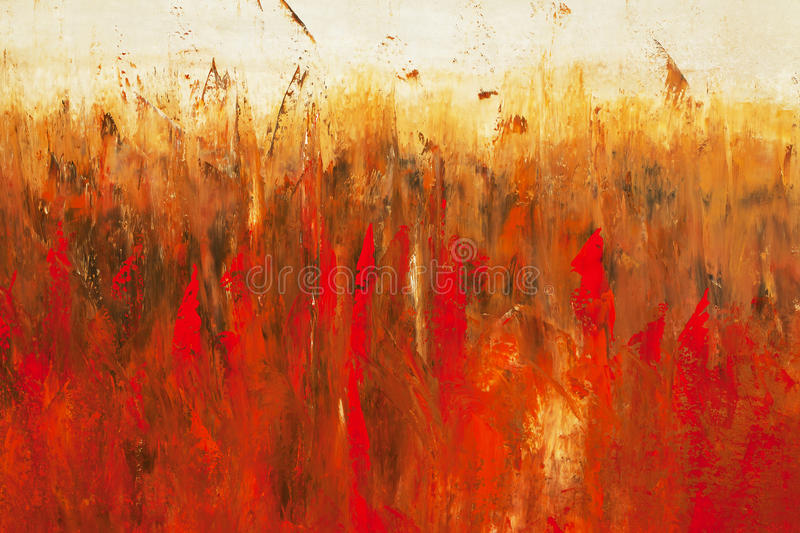 Painting detail. An autumn abstract painting detail